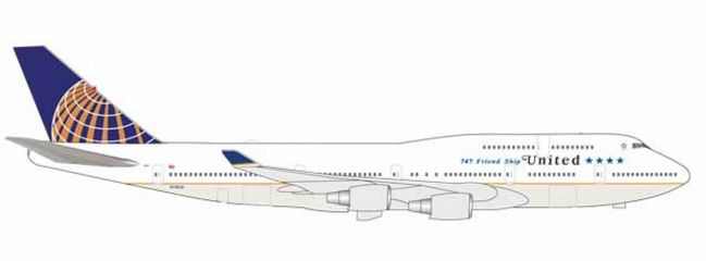 herpa 531306 Boeing 747-400 United Airlines Farewell Flight Flugzeugmodell 1:500