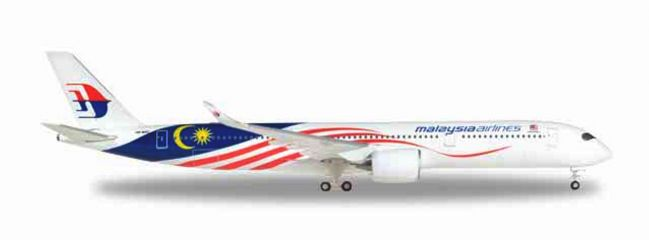 herpa 531344 Airbus A350-900 Malaysia Airlines Negaraku livery WINGS Flugzeugmodell 1:500