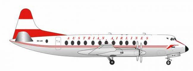 ausverkauft   herpa WINGS 559065 Vickers Viscount 800 Austrian Airlines Anton Bruckner Flugzeugmodell 1:200