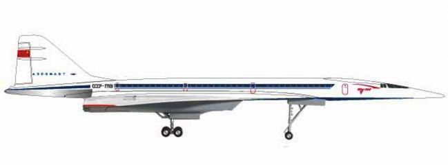 herpa 559126 Tupolev TU-144S Tupolev Design Bureau Flugzeugmodell 1:200
