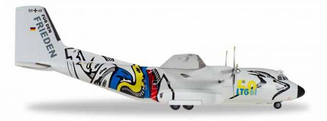herpa 559201Transall  C-160 Luftwaffe LTG 61 50 Jahre Flugzeugmodell 1:200