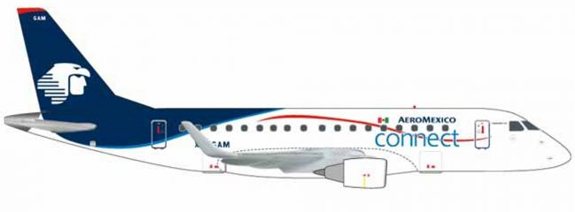 herpa WINGS 562652 Embraer E170 Aeroméxico Connect Flugzeugmodell 1:400