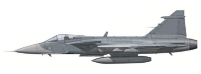 herpa 82MLCZ7211 Saab JAS-39 Gripen basic mit Decals Flugzeugmodell 1:72