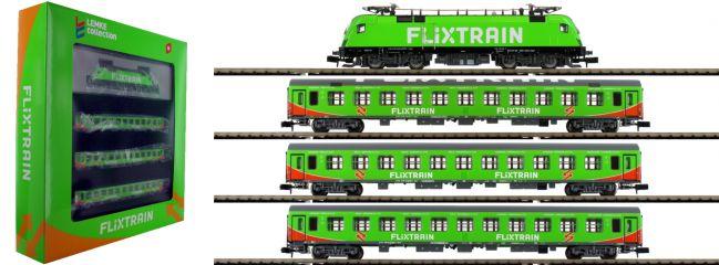 ausverkauft | HOBBYTRAIN LC95001S Zugset FLIXTRAIN mit BR182 Taurus | 4-tlg. | digital Sound | Spur N