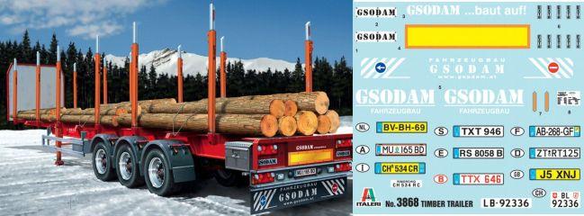 ITALERI 3868 Auflieger zum Holztransport  Bausatz 1:24