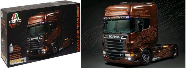 ITALERI 3897 Scania R730 V8 Black Amber LKW Bausatz 1:24