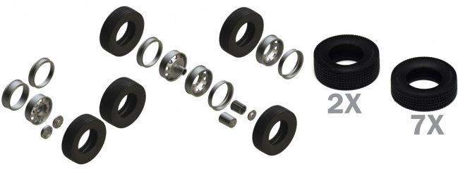 ITALERI 3909 Europäische Traktor Reifen Felgen Set | Zubehör 1:24