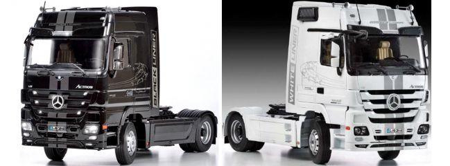 ITALERI 3884 Mercedes-Benz Actros MP3 White Liner / Black Liner LKW Bausatz 1:24