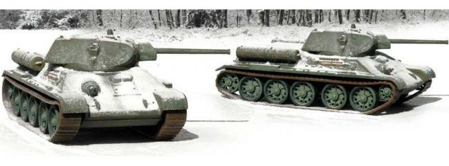 ITALERI 7523 2er-Set T-34/76 m42 | Militär Bausatz 1:72