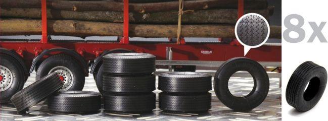 ITALERI 3890 Anhänger-Reifen 1:24 | 8 Stück