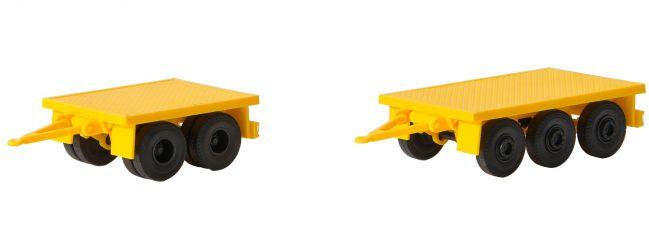 kibri 13050 Set Gewichtanhänger Bausatz 1:87 | Spur H0