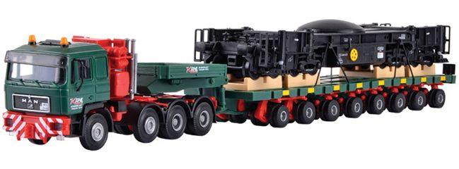 kibri 13601 MAN SK Schwertransport Schienenkran | Bausatz Spur H0