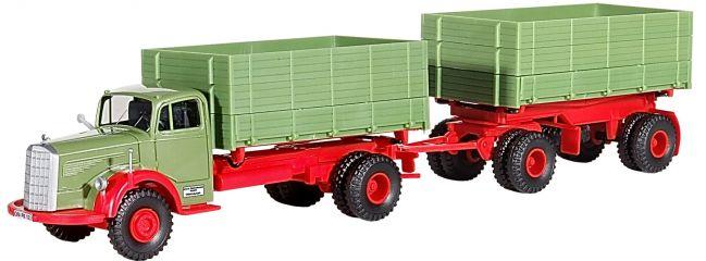 kibri 14069 MB 6600 Kipper mit Anhänger, Baujahr 50-54 Bausatz Spur H0