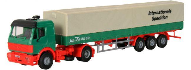kibri 14643 MB SK Zugmaschine mit Planenauflieger | LKW Bausatz Spur H0