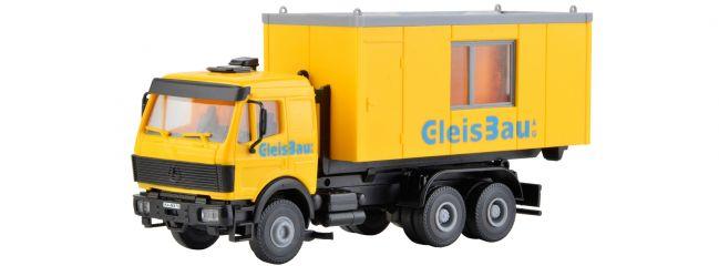 kibri 16310 H0 MB LP Wechsellader mit GleisBau Container | LKW Bausatz Spur H0