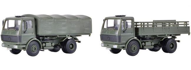 kibri 18051 MB 1017 Pritschenwagen Bundeswehr 2 Stück | Bausatz Spur H0
