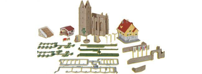 kibri 36401 Ruine Klostergarten inkl. Haus und Openair-Bühne | Gebäude Bausatz Spur Z