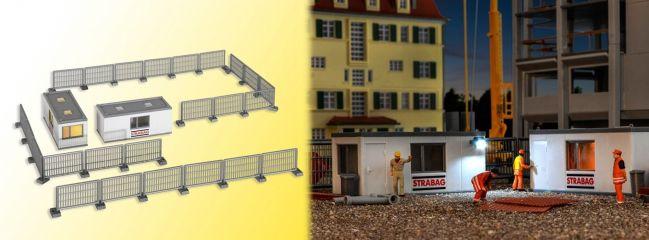 kibri 38626 Gebäude-Container STRABAG mit LED-Beleuchtung Bausatz 1:87