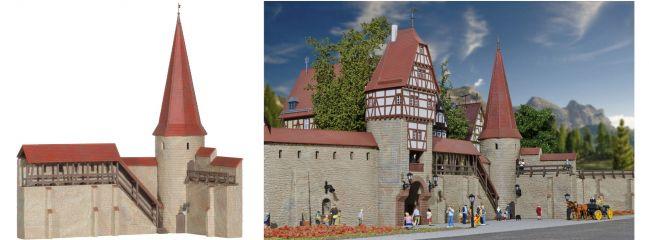 kibri 38915  Stadtmauer mit Rundturm in Weil Bausatz Spur H0