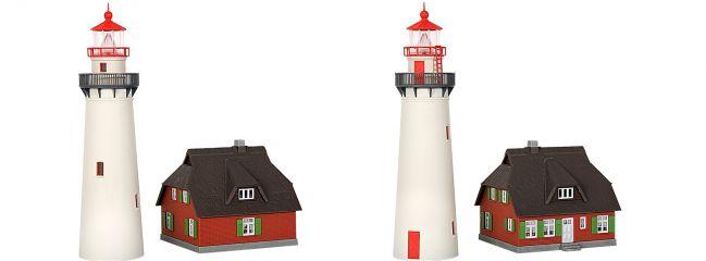 kibri 39153 Leuchtturm Hiddensee + Nebengebäude | Bausatz Spur H0