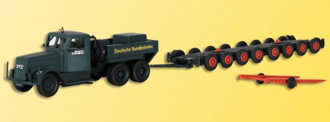 kibri 13570 KAELBLE Zugmaschine mit Straßenroller Bausatz Spur H0