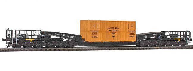 kibri 16510 Schienentransport Übersee-Holzkiste Uaais 819 Bausatz Spur H0