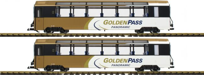 LGB 39667 Panoramawagen-Set 2-tlg. Golden Pass MOB | Spur G