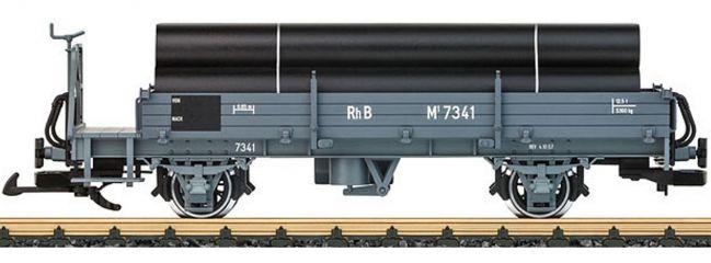 ausverkauft | LGB 40092 Niederbordwagen mit Ladegut Röhren RhB | Spur G