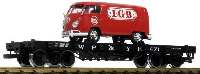 LGB 40597 Flachwagen mit VW T1 WP&Y RR | Spur G
