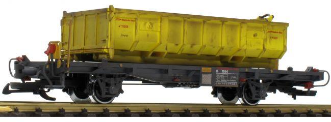 ausverkauft | LGB 40895 Containertragwagen mit Mulde RhB | Spur G