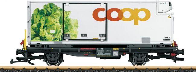 ausverkauft | LGB 45899 Containerwagen Coop RhB | Spur G