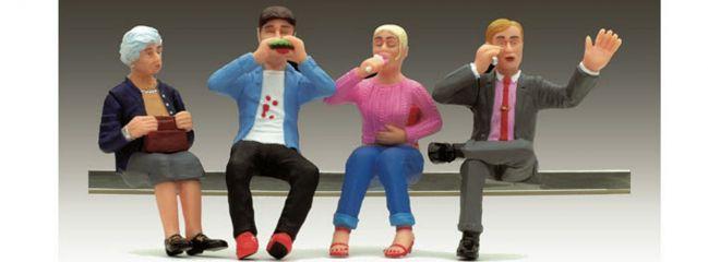 ausverkauft   LGB 52445 Speisewagen-Figuren sitzend   4 Stück Miniaturfiguren    Spur G