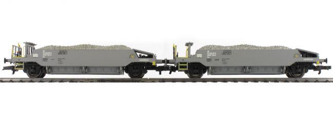 LILIPUT L230111 2-teiliges Schotterwagen-Set mit Beladung | BLS | DC | Spur H0