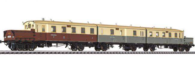 LILIPUT L133510 Akku-Triebwagen 3-tlg. AT 535/535a/536 K.P.E.V.   DC   Spur H0