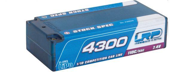 LRP 430228 LiPo Akku CCL Stock Spec Shorty Hardcase | 4300mAh | 110C/55C | 7.4V