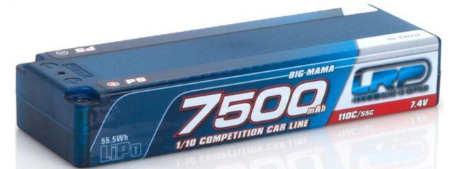 LRP 430232 LiPo Akku 7500mAh | 7,4V | 110C/55C | Big Mama P5 | für RC Cars 1:10