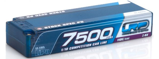 LRP 430233 LiPo Akku 7500mAh | 7,4V | 110C/55C | Stock Spec P5 | für RC Cars 1:10