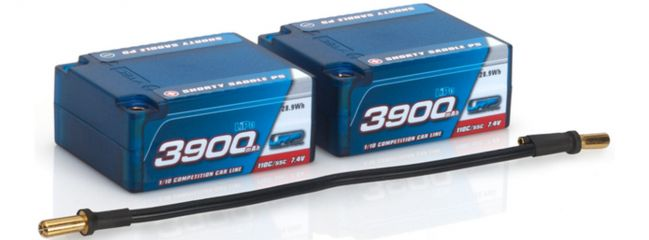 LRP 430242 LiPo Akku 3900mAh | Shorty Saddle P5 | 110C/55C | 7.4V | Hardcase