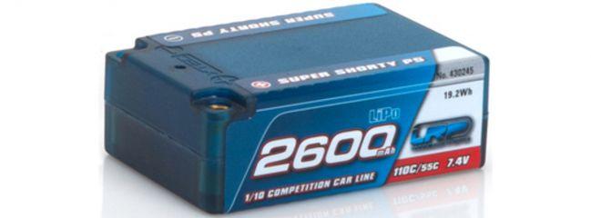 LRP 430245 LiPo Akku 2600mAh | 7,4V | 110/55C | Super Shorty P5 | für RC Cars 1:10
