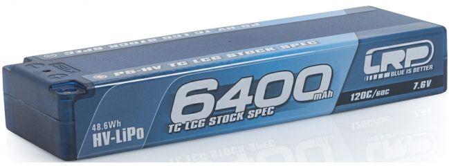 ausverkauft | LRP 430251 LiPo Akku 6400mAh TC LCG Graphene Stock Spec | 7.6V | 2S | 120C/60C | P5-HV
