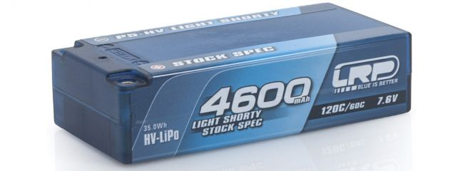 LRP 430254 LiPo Akku 4600mAh Light Shorty Stock Spec Graphene | 7.6V | 2S | 120C/60C | P5-HV