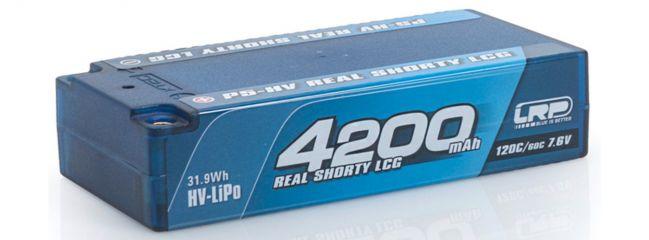 LRP 430256 Competiton LiPo 7,6 V 2S Shorty Format Hardcase | 4200 mAh | P5-HV