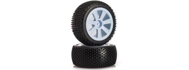 ausverkauft | LRP 65557J Komplettrad hinten Groove VTEC | J-Compound | 2WD | 1/10 Buggy