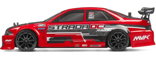MAVERICK 12626 Strada DC Brushless Drift Car rot | RC Auto RTR 1:10