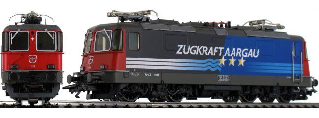 märklin 37306 E-Lok Re 4/4 II Zugkraft Aargau SBB | mfx+ Sound | Spur H0
