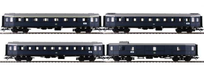 ausverkauft | märklin 42228 Schnellzugwagen-Set 4-tlg. stahlblau DB | Messe 2019 | Spur H0