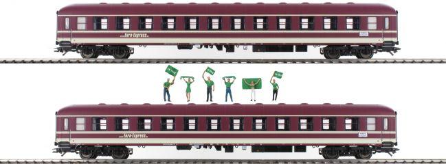 märklin 43946 Abteilwagen-Set 2-tlg. Bm Fan-Zug Euro-Express | Spur H0