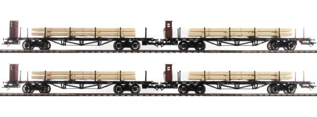 märklin 46287 Flachwagen-Set 4-tlg. SSml Holzbeladung DRG | Spur H0