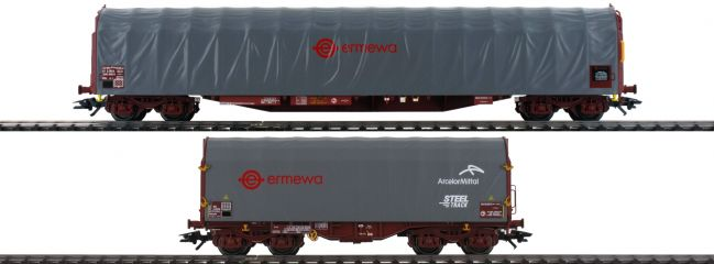 ausverkauft | märklin 47102 Schiebeplanenwagen-Set Ermewa | Spur H0