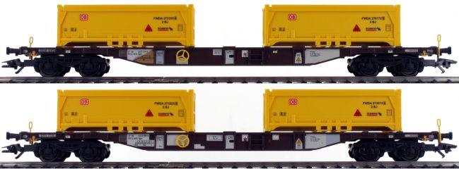 märklin 47130 Containertragwagen-Set Sgns Stuttgart 21 AAE | Spur H0